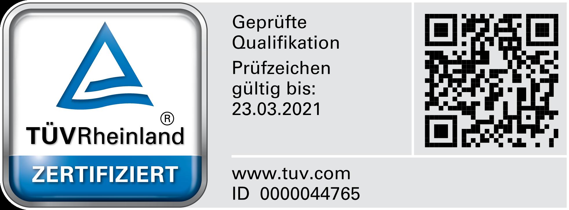 Zertifikat Bauwerksabdichtung