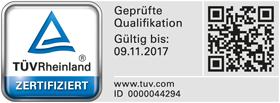 Zertifikat Sanierung Schimmelpilzschäden