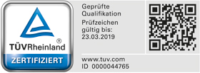 Zertifikat Sachverständiger Bauwerksabdichtung